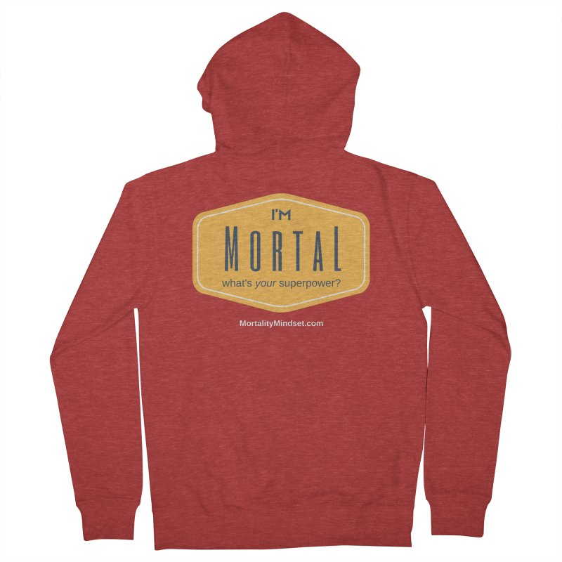 What's your superpower? (white text) Men's French Terry Zip-Up Hoody by The MortalityMindset Shop