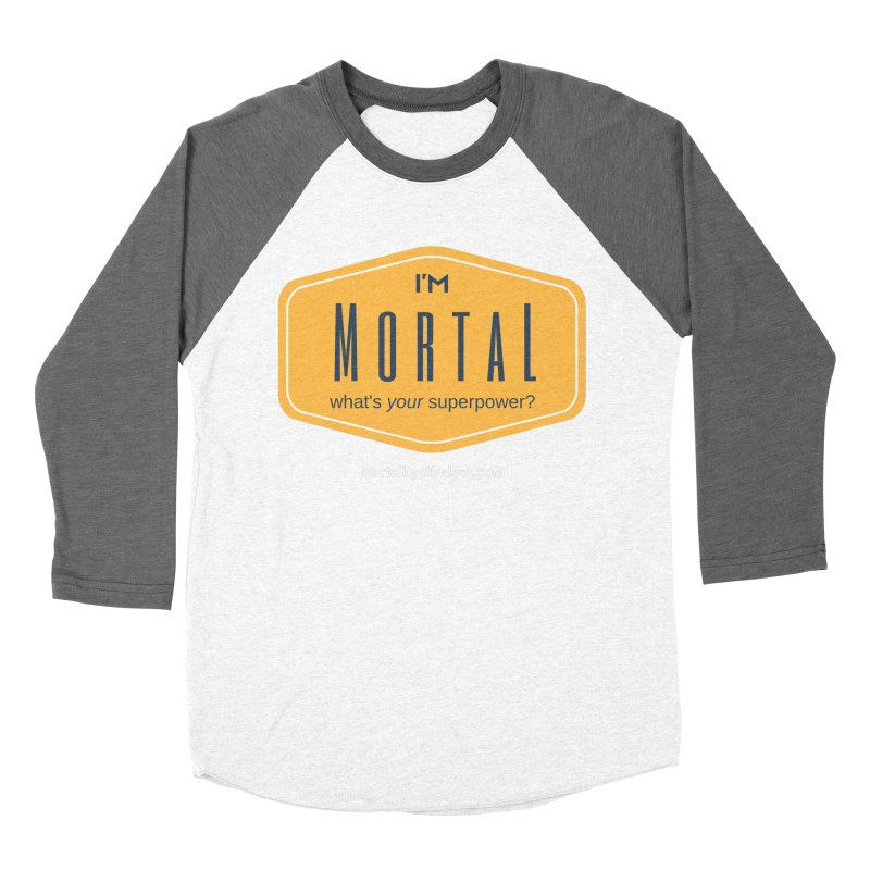 What's your superpower? (white text) Women's Baseball Triblend Longsleeve T-Shirt by The MortalityMindset Shop