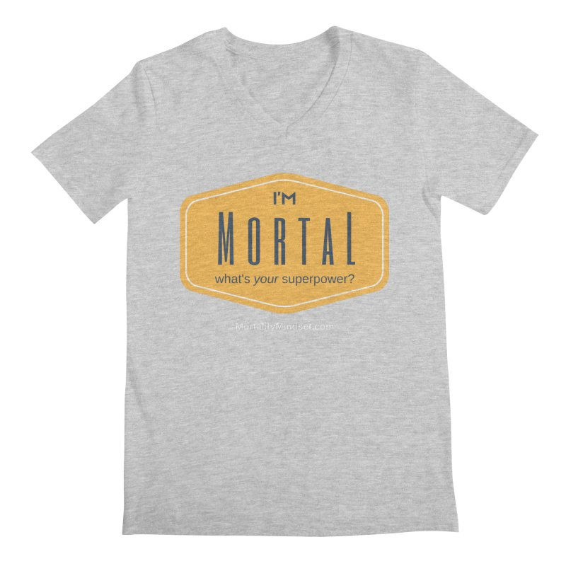 What's your superpower? (white text) Men's Regular V-Neck by The MortalityMindset Shop