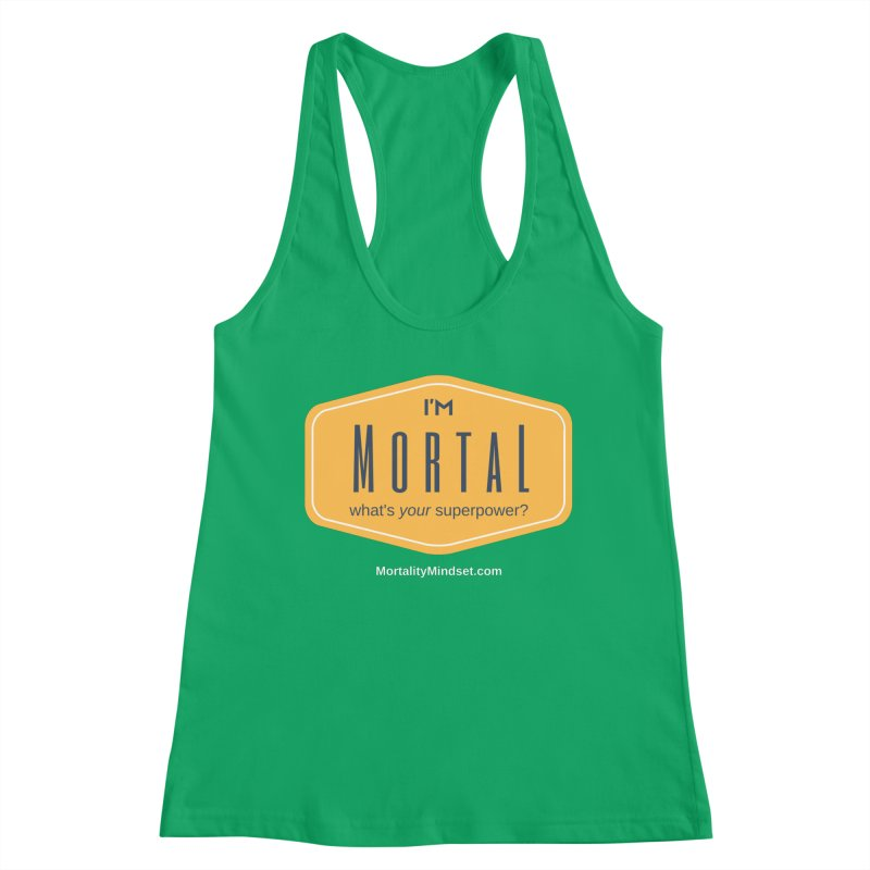 What's your superpower? (white text) Women's Tank by The MortalityMindset Shop