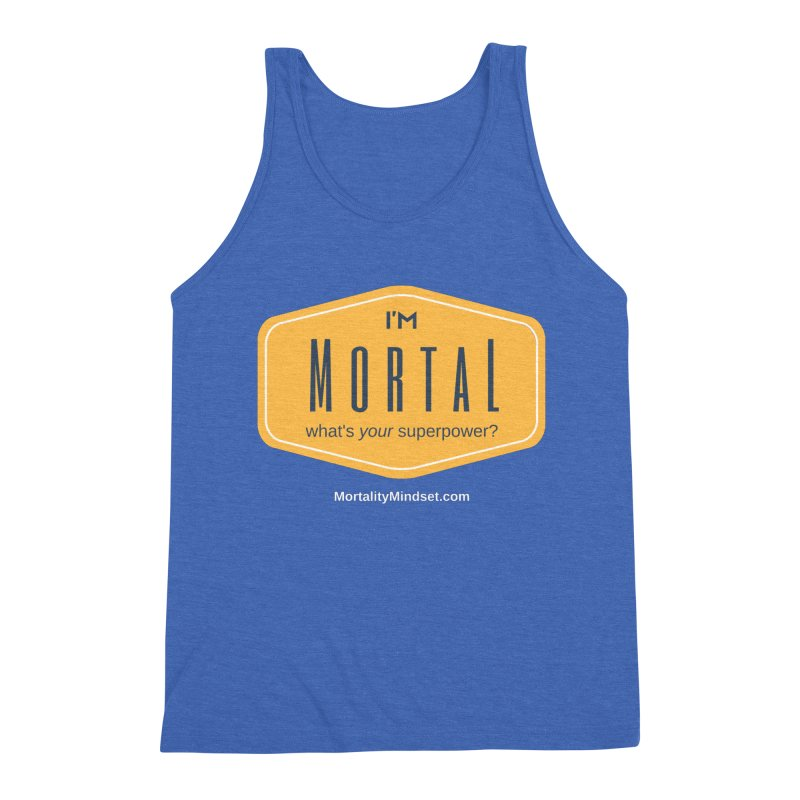 What's your superpower? (white text) Men's Triblend Tank by The MortalityMindset Shop