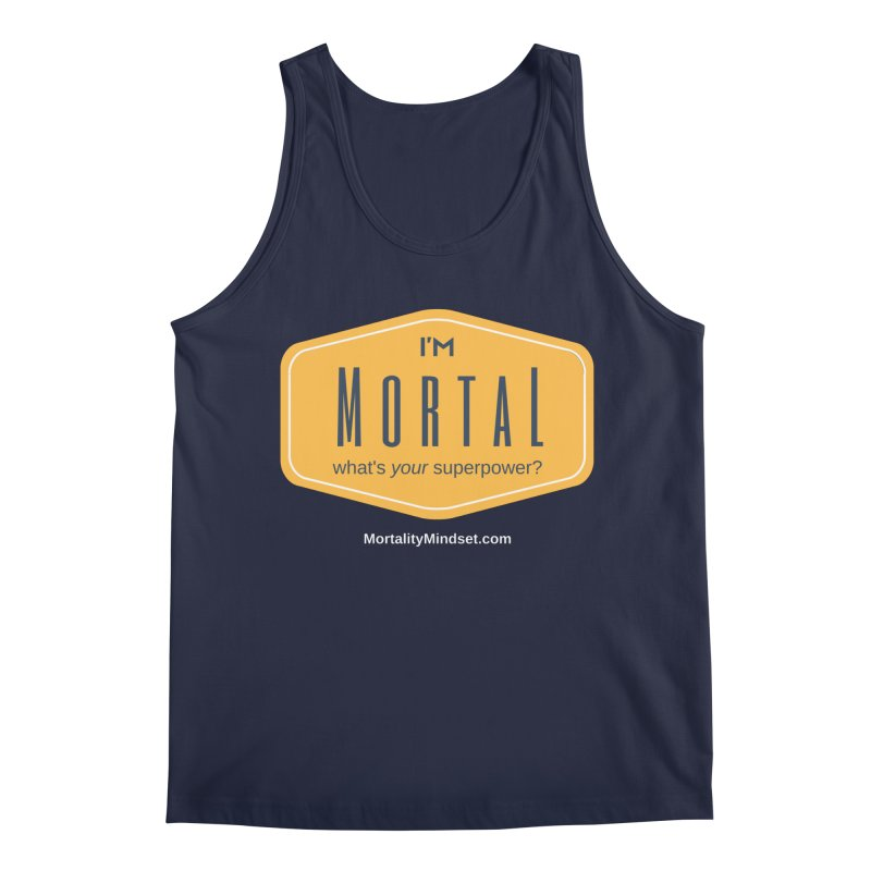 What's your superpower? (white text) Men's Regular Tank by The MortalityMindset Shop
