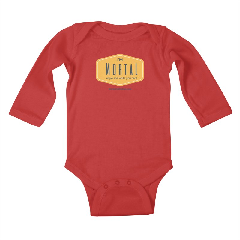 Enjoy me while you can! Kids Baby Longsleeve Bodysuit by The MortalityMindset Shop
