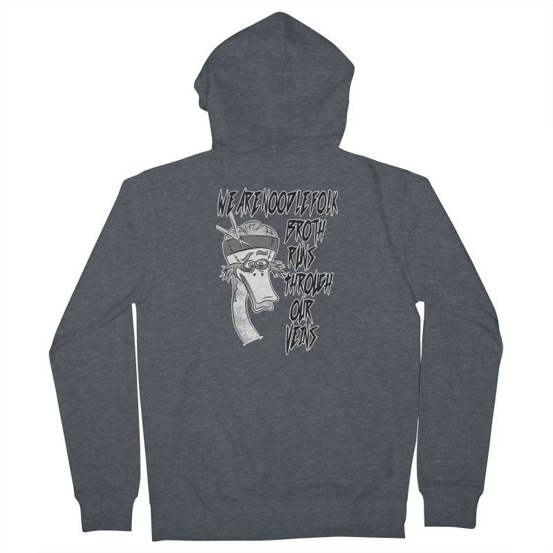We are noodle folk broth runs through our veins Women's Zip-Up Hoody by MortimerAglet's Artist Shop