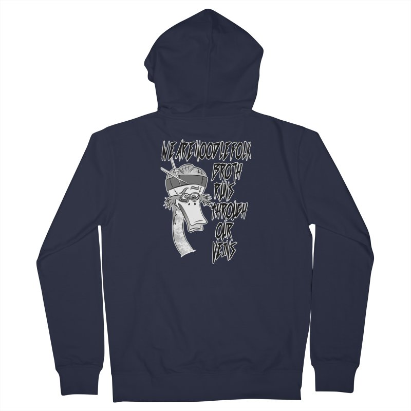 We are noodle folk broth runs through our veins Women's French Terry Zip-Up Hoody by MortimerAglet's Artist Shop