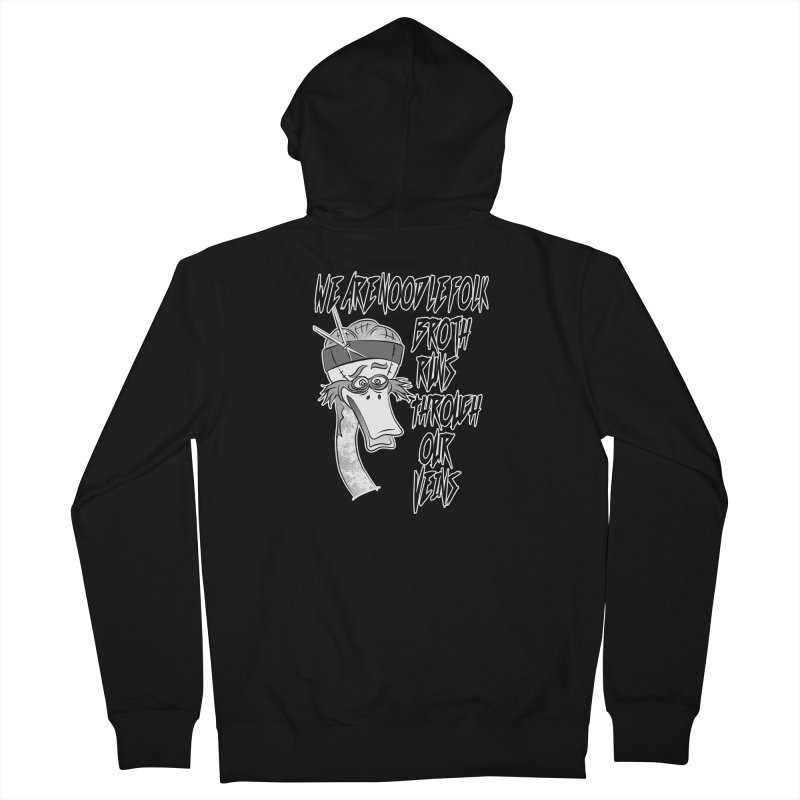 We are noodle folk broth runs through our veins Men's French Terry Zip-Up Hoody by MortimerAglet's Artist Shop
