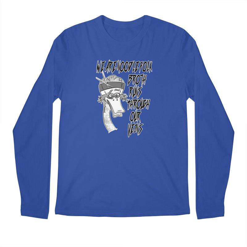 We are noodle folk broth runs through our veins Men's Regular Longsleeve T-Shirt by MortimerAglet's Artist Shop