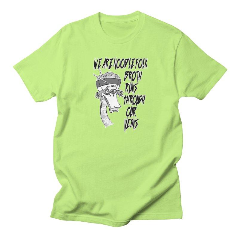 We are noodle folk broth runs through our veins Men's T-Shirt by MortimerAglet's Artist Shop