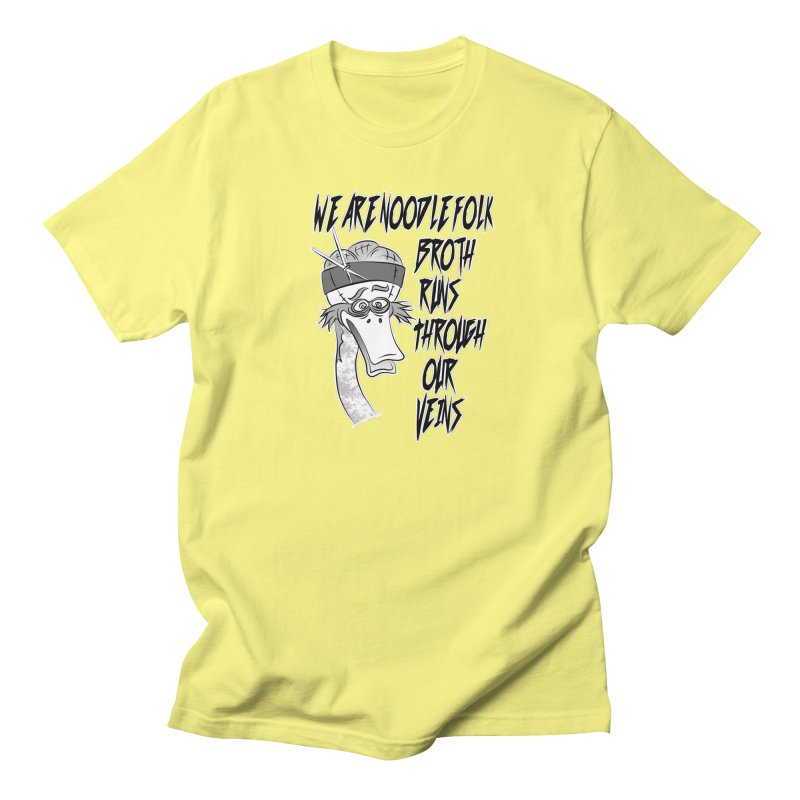 We are noodle folk broth runs through our veins Men's Regular T-Shirt by MortimerAglet's Artist Shop