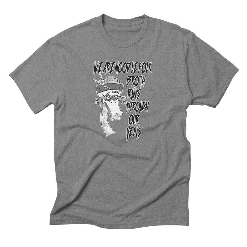 We are noodle folk broth runs through our veins Men's Triblend T-Shirt by MortimerAglet's Artist Shop