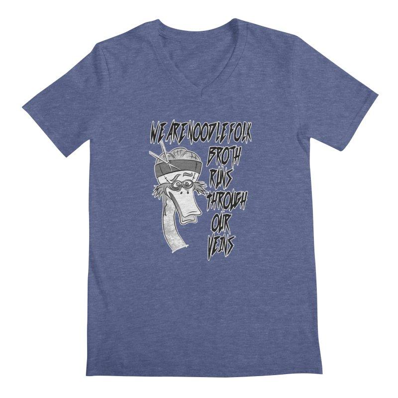 We are noodle folk broth runs through our veins Men's V-Neck by MortimerAglet's Artist Shop