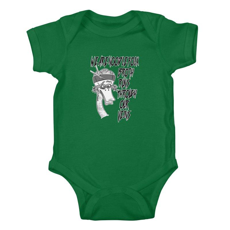 We are noodle folk broth runs through our veins Kids Baby Bodysuit by MortimerAglet's Artist Shop