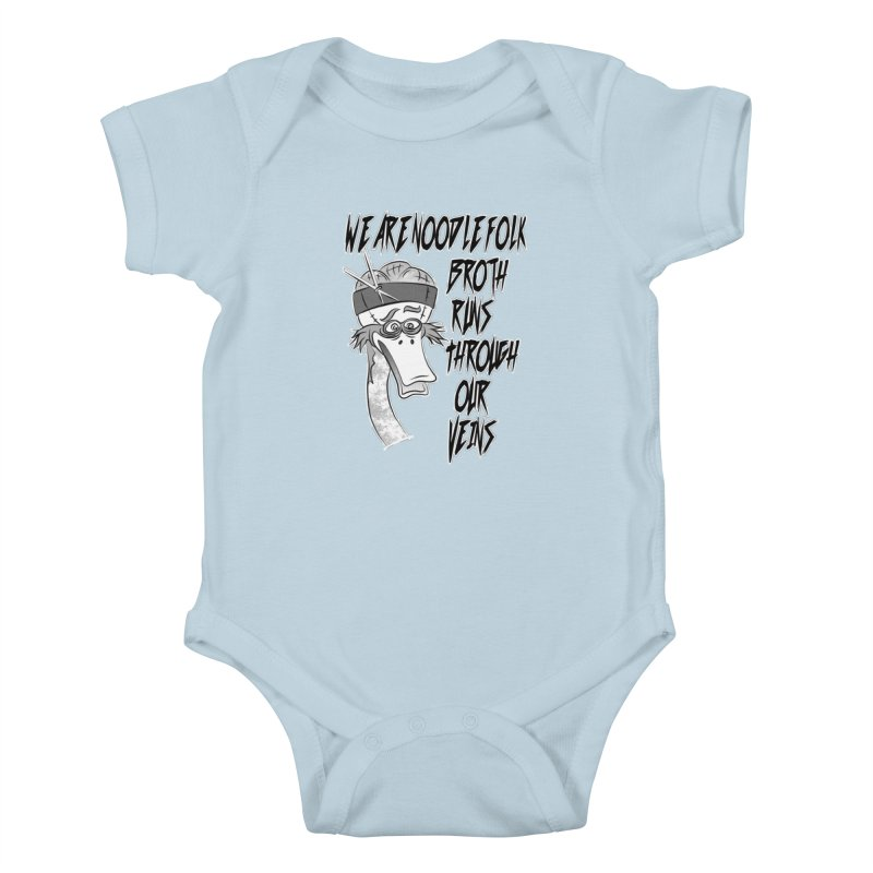 We are noodle folk broth runs through our veins Kids Baby Bodysuit by MortimerAglet's Artist Shop