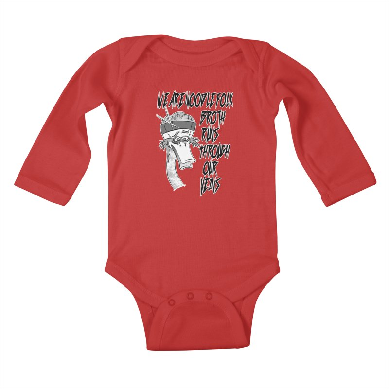 We are noodle folk broth runs through our veins Kids Baby Longsleeve Bodysuit by MortimerAglet's Artist Shop