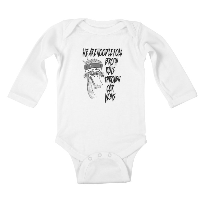 We are noodle folk broth runs through our veins Kids Baby Longsleeve Bodysuit by MortimerAglet's Artist Shop