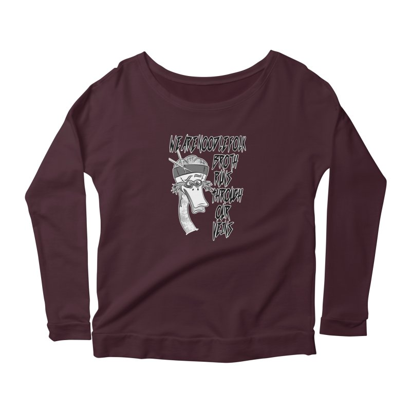 We are noodle folk broth runs through our veins Women's Longsleeve T-Shirt by MortimerAglet's Artist Shop