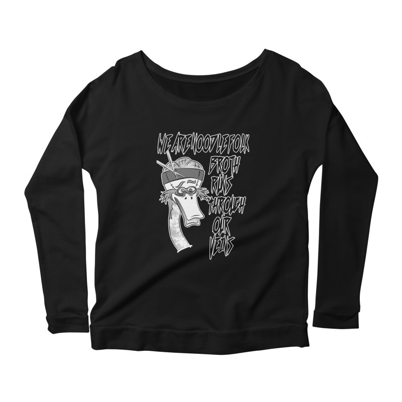 We are noodle folk broth runs through our veins Women's Scoop Neck Longsleeve T-Shirt by MortimerAglet's Artist Shop