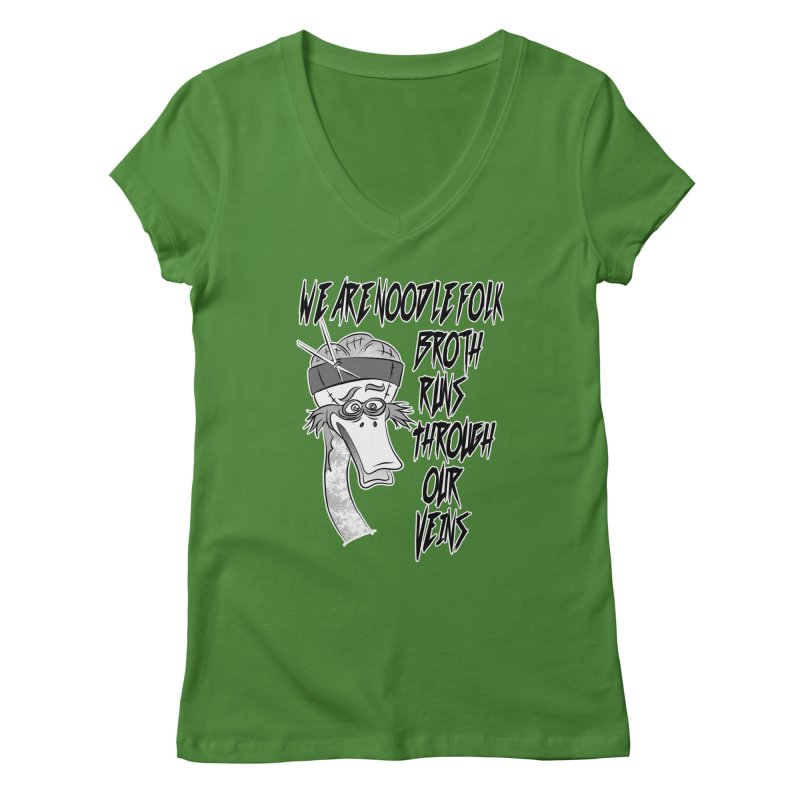 We are noodle folk broth runs through our veins Women's V-Neck by MortimerAglet's Artist Shop