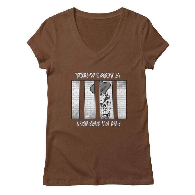 You've Got a Friend in Me Women's V-Neck by MortimerAglet's Artist Shop