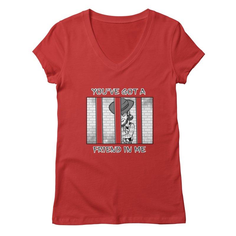 You've Got a Friend in Me Women's Regular V-Neck by MortimerAglet's Artist Shop