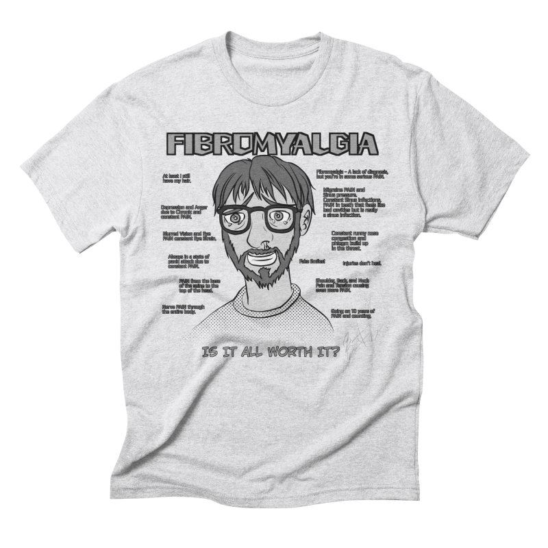 Fibromyalgia - Existence is PAIN Men's Triblend T-Shirt by MortimerAglet's Artist Shop
