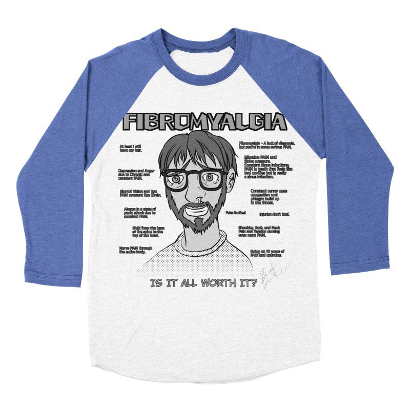 Fibromyalgia - Existence is PAIN Men's Baseball Triblend Longsleeve T-Shirt by MortimerAglet's Artist Shop