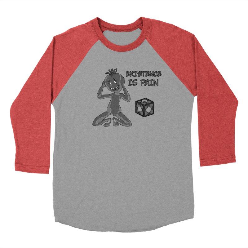 Existence is PAIN Women's Baseball Triblend Longsleeve T-Shirt by MortimerAglet's Artist Shop