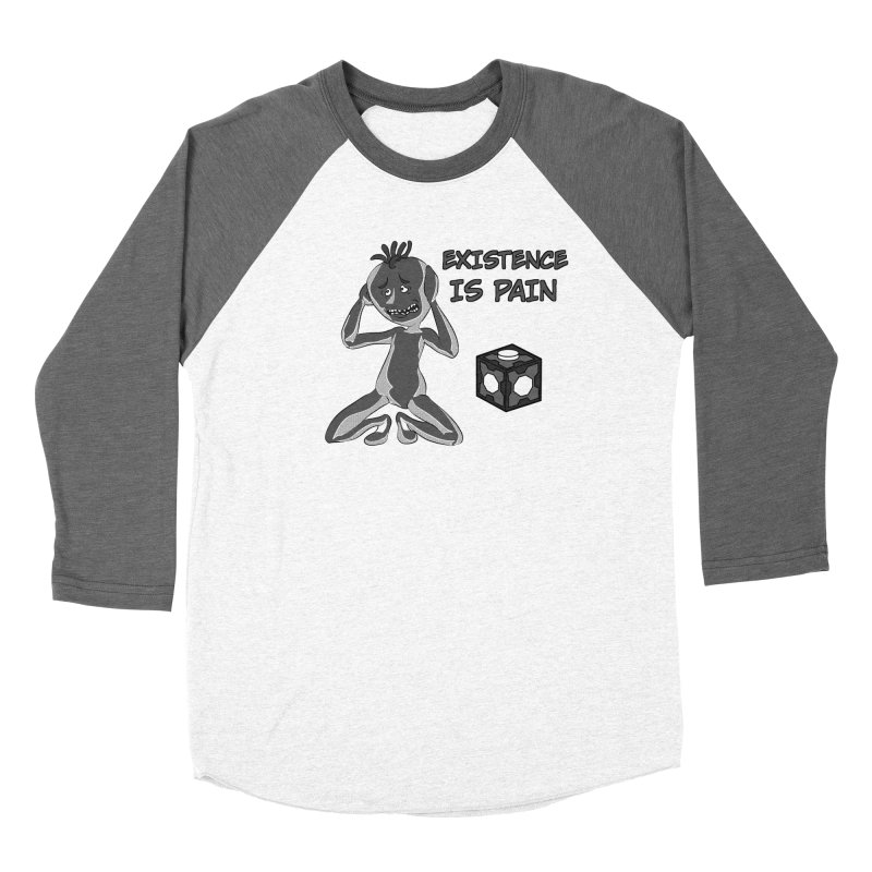 Existence is PAIN Men's Baseball Triblend Longsleeve T-Shirt by MortimerAglet's Artist Shop