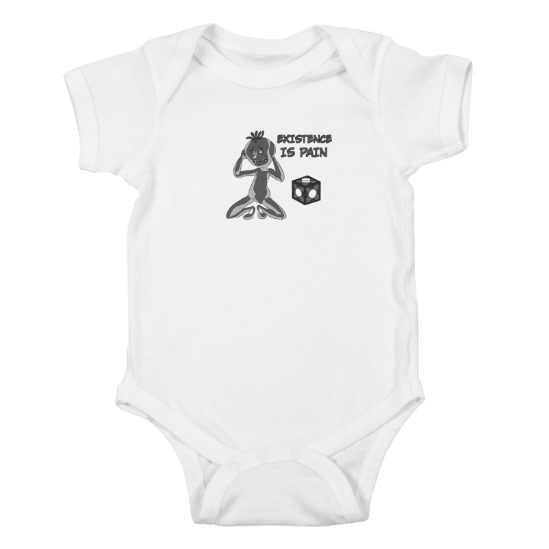 Existence is PAIN Kids Baby Bodysuit by MortimerAglet's Artist Shop