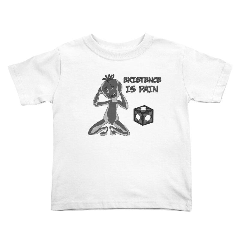 Existence is PAIN Kids Toddler T-Shirt by MortimerAglet's Artist Shop