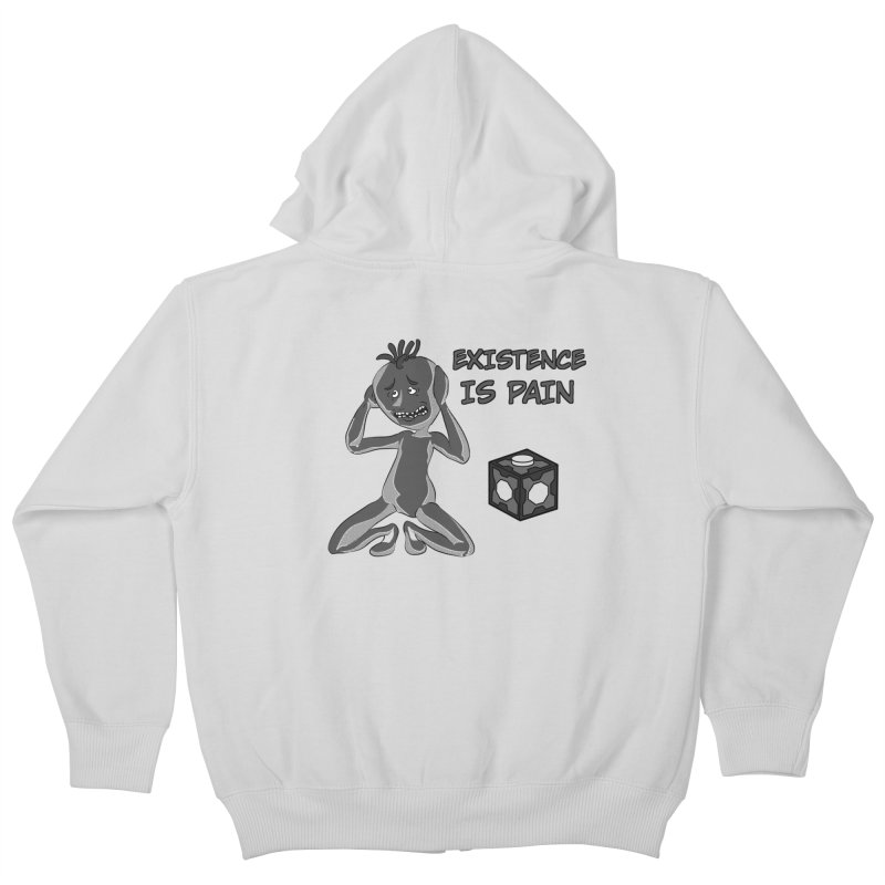 Existence is PAIN Kids Zip-Up Hoody by MortimerAglet's Artist Shop