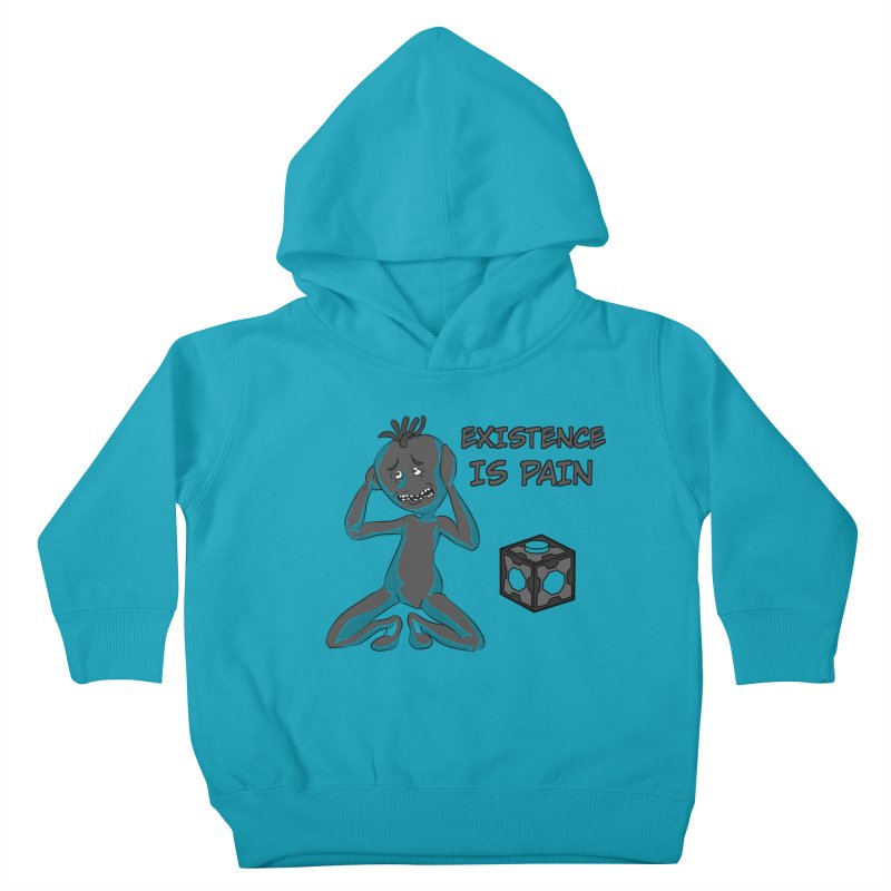 Existence is PAIN Kids Toddler Pullover Hoody by MortimerAglet's Artist Shop