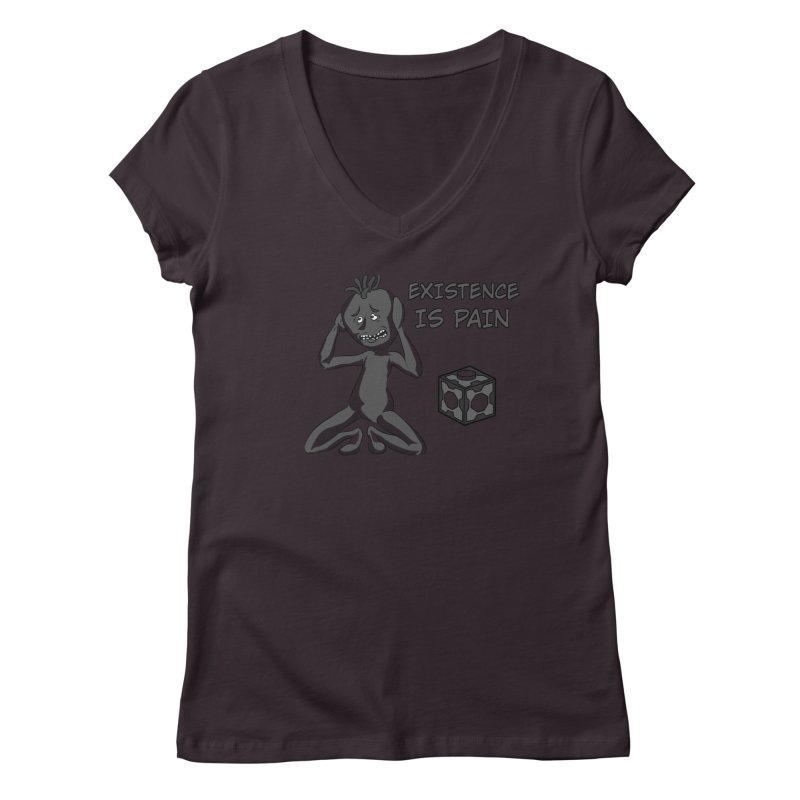 Existence is PAIN Women's V-Neck by MortimerAglet's Artist Shop