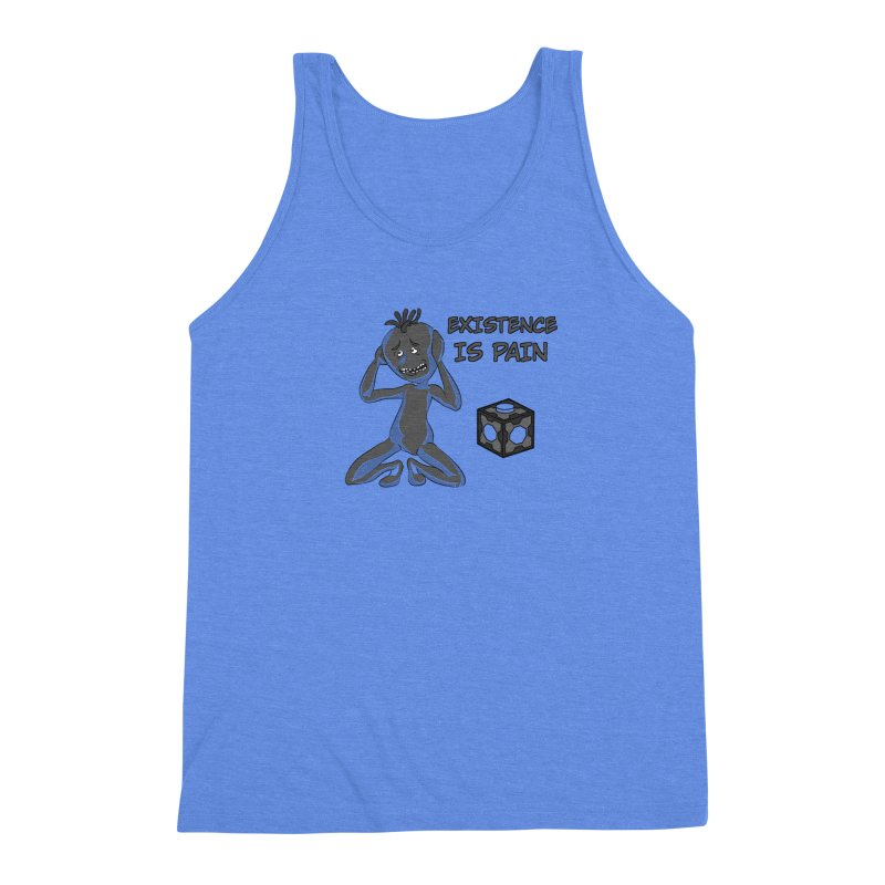 Existence is PAIN Men's Triblend Tank by MortimerAglet's Artist Shop