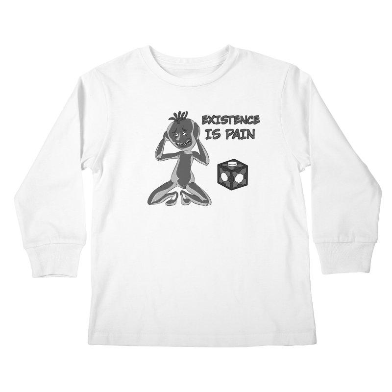 Existence is PAIN Kids Longsleeve T-Shirt by MortimerAglet's Artist Shop