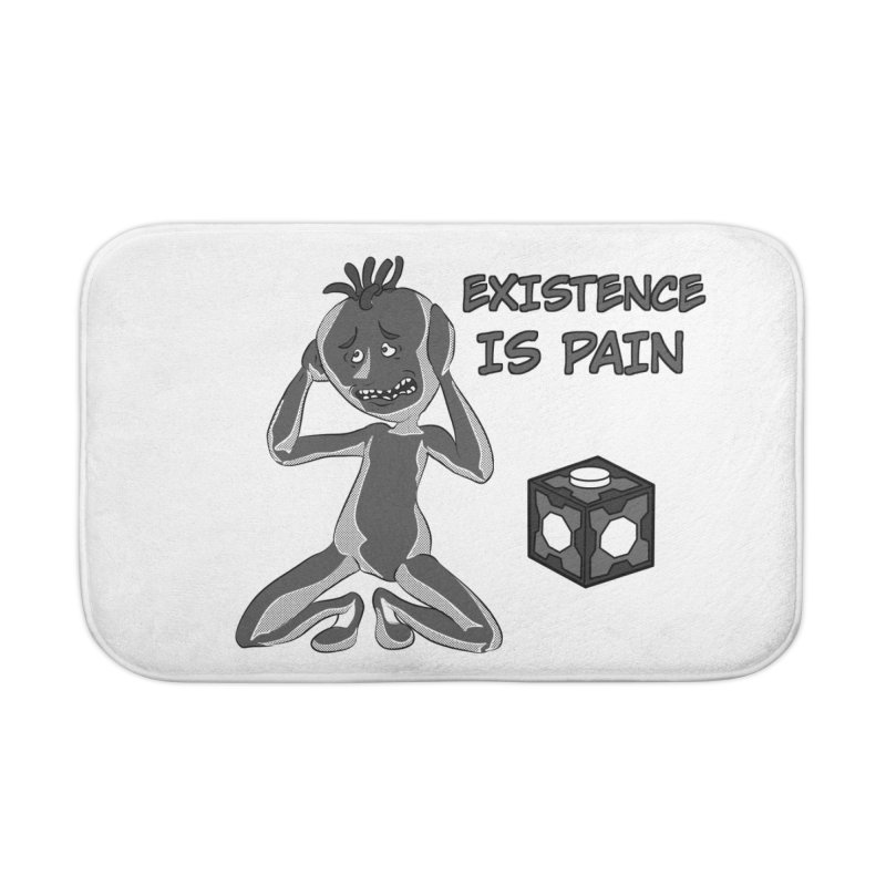 Existence is PAIN Home Bath Mat by MortimerAglet's Artist Shop