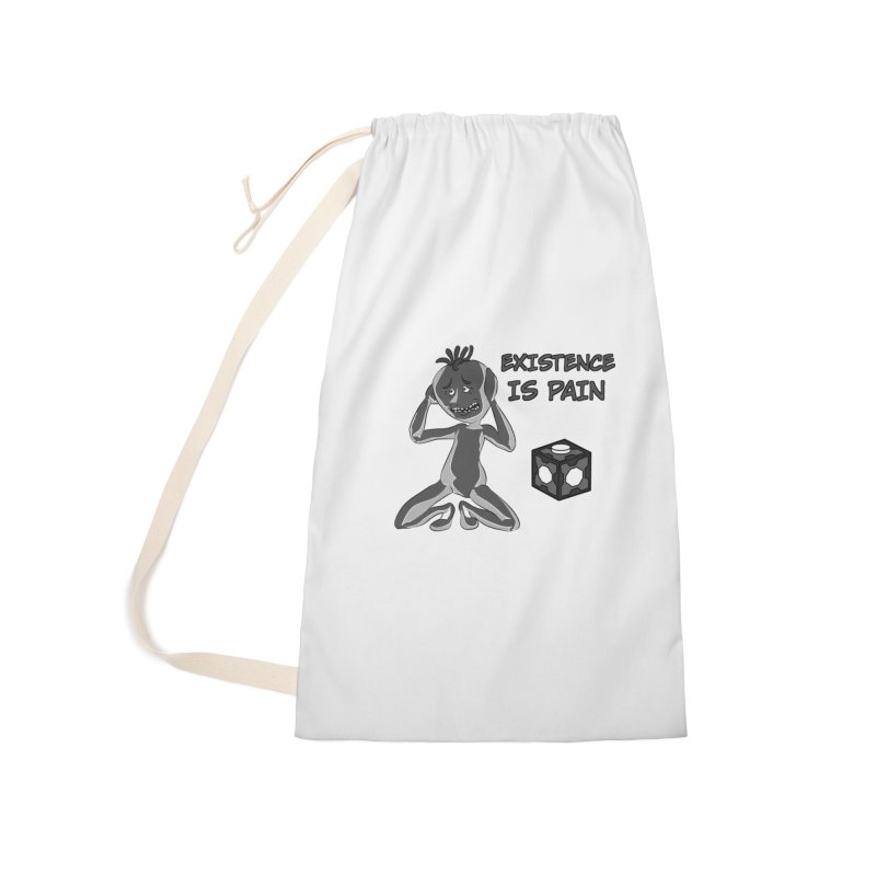 Existence is PAIN Accessories Laundry Bag Bag by MortimerAglet's Artist Shop