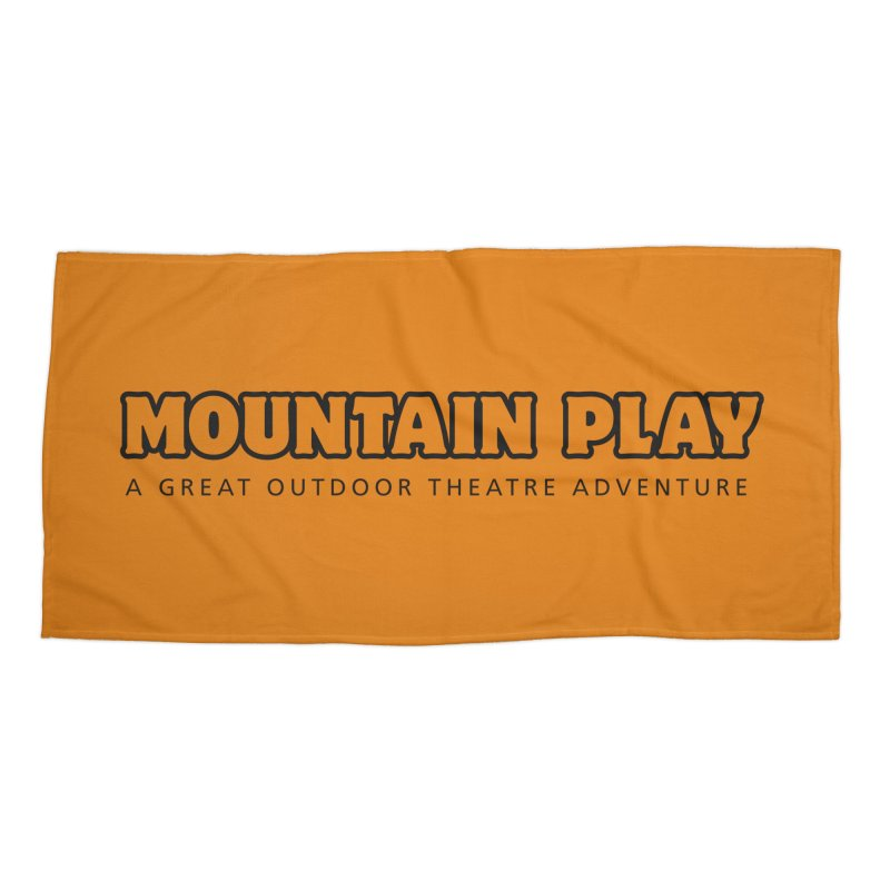 Mountain Play Logo (for light colors) Accessories Beach Towel by Mountain Play Shop