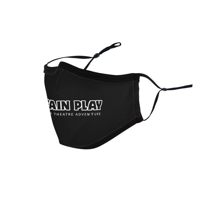 Mountain Play Logo (white for dark colors) Accessories Face Mask by Mountain Play Shop