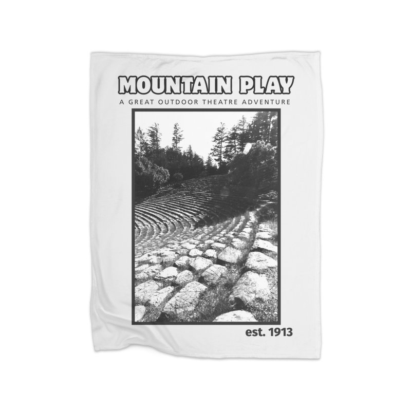 Ampitheatre Steps (black for light colors) Home Blanket by Mountain Play Shop