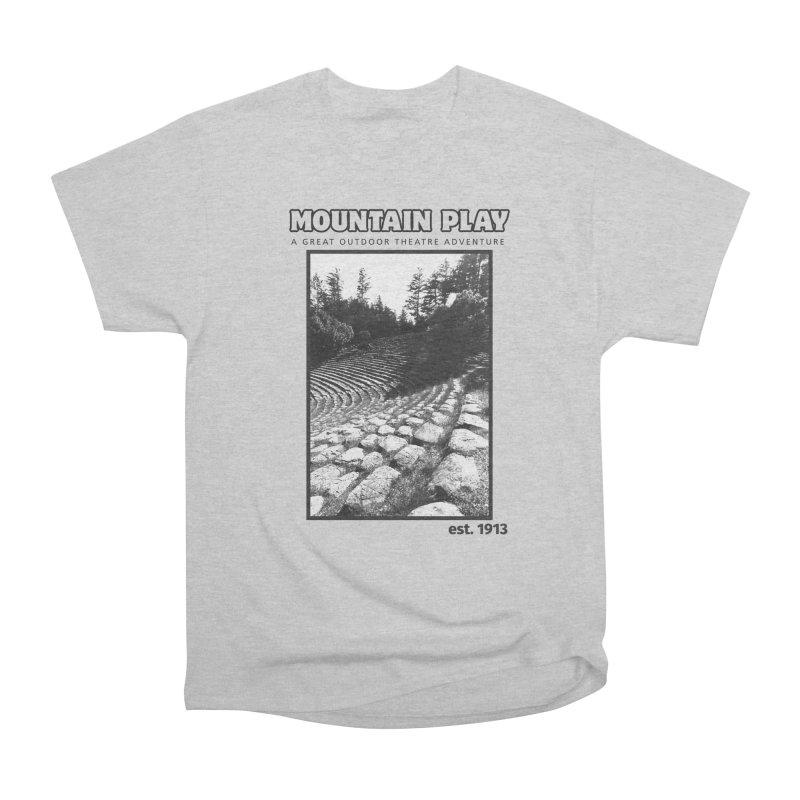 Ampitheatre Steps (black for light colors) Men's T-Shirt by Mountain Play Shop