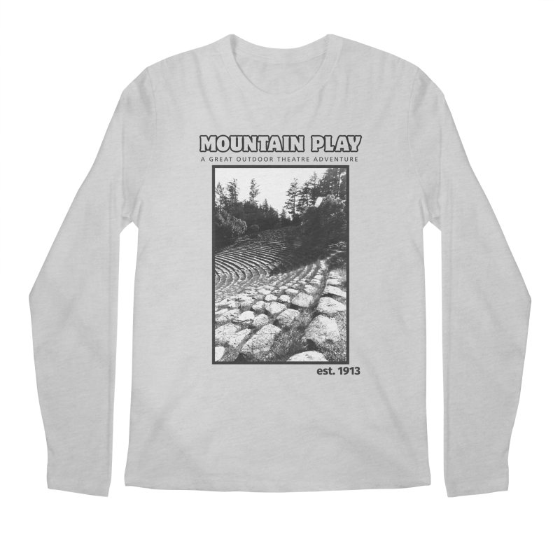 Ampitheatre Steps (black for light colors) Men's Longsleeve T-Shirt by Mountain Play Shop