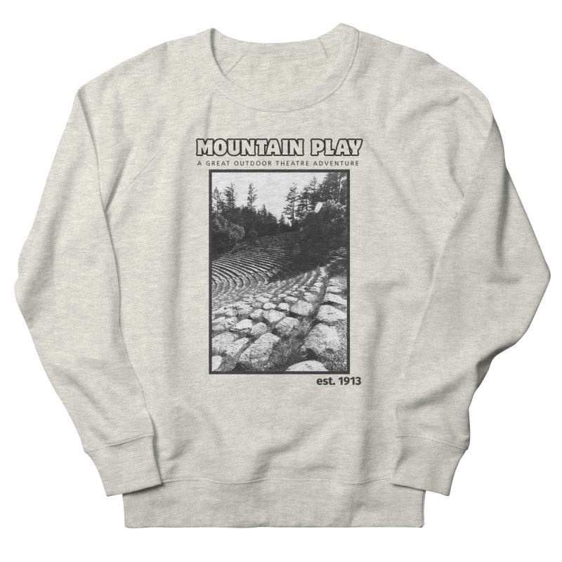 Ampitheatre Steps (black for light colors) Men's Sweatshirt by Mountain Play Shop