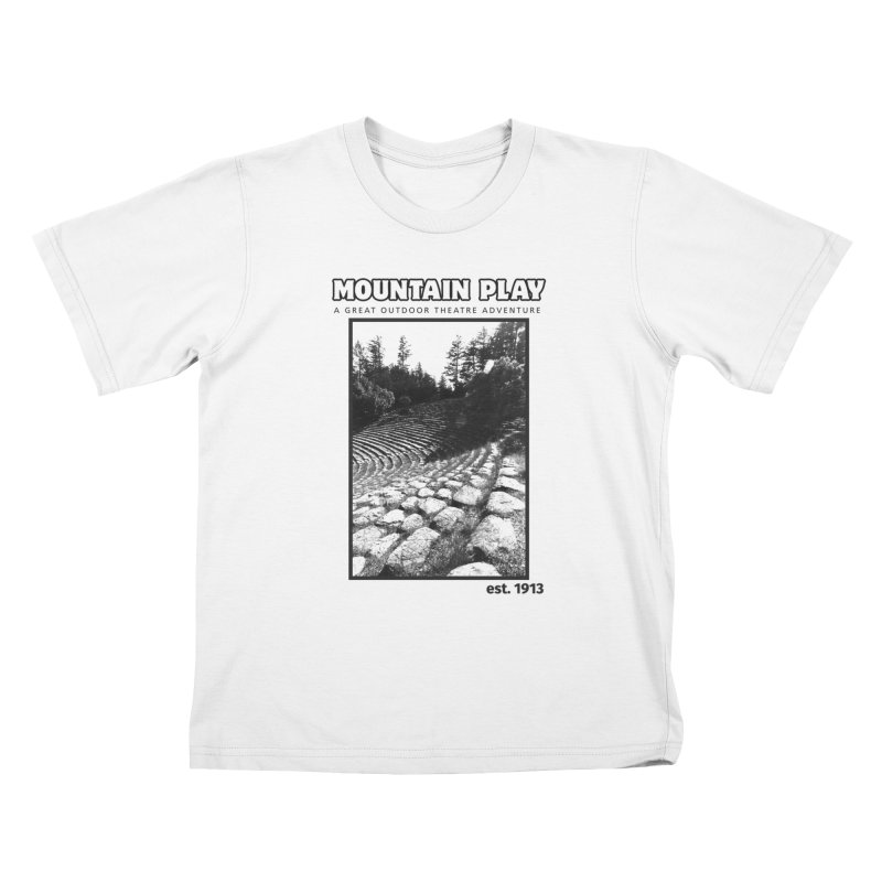 Ampitheatre Steps (black for light colors) Kids T-Shirt by Mountain Play Shop