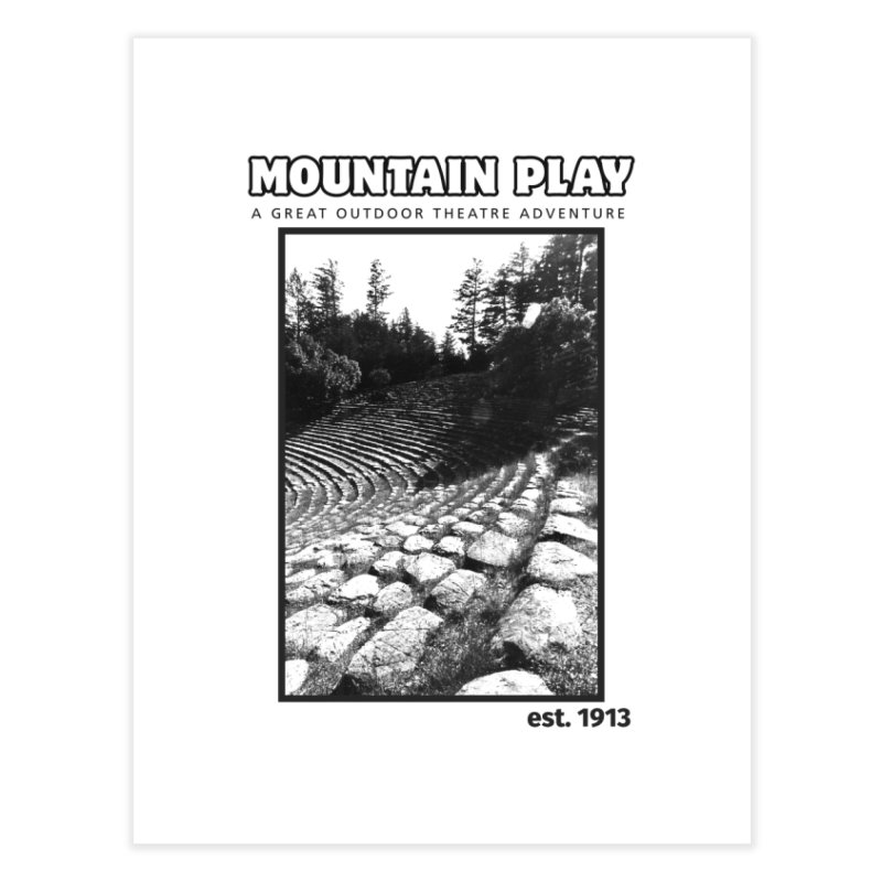 Ampitheatre Steps (black for light colors) Home Fine Art Print by Mountain Play Shop