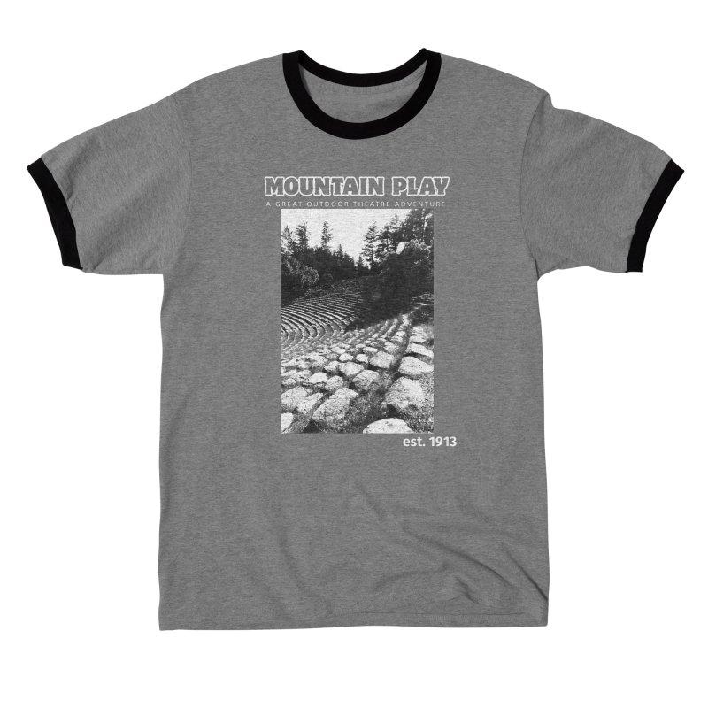 Amphitheatre Steps (white for dark colors) Men's T-Shirt by Mountain Play Shop