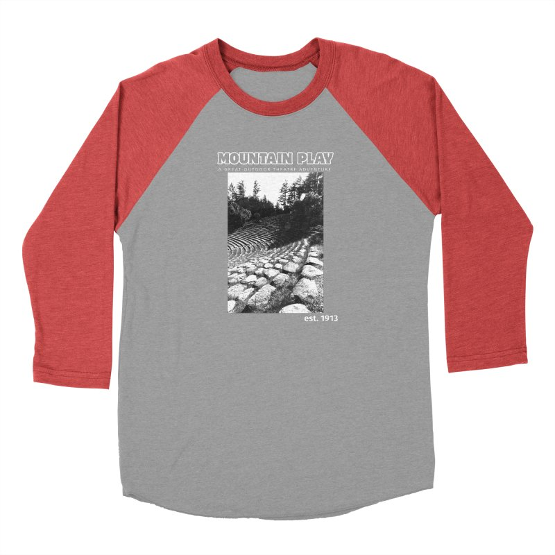 Amphitheatre Steps (white for dark colors) Men's Longsleeve T-Shirt by Mountain Play Shop