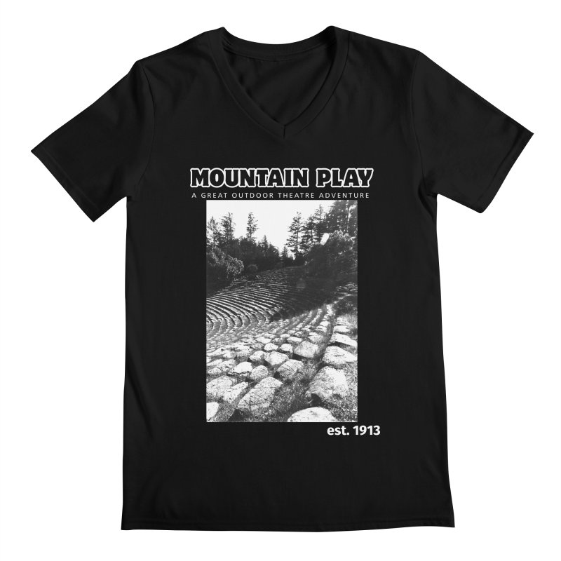 Amphitheatre Steps (white for dark colors) Men's V-Neck by Mountain Play Shop
