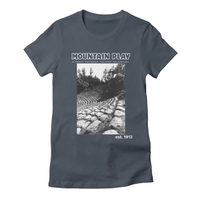 Amphitheatre Steps (white for dark colors) Women's T-Shirt by Mountain Play Shop