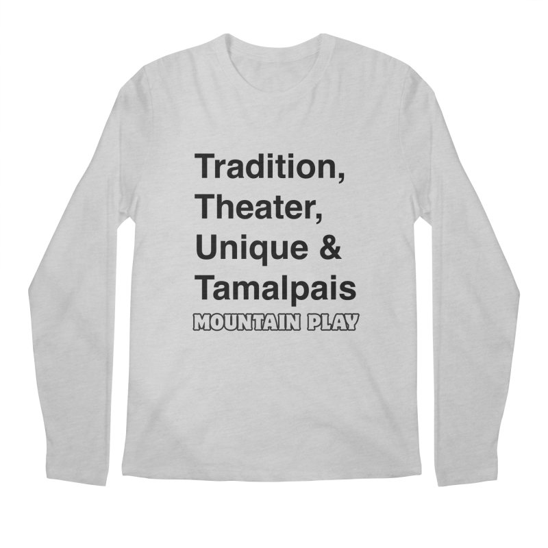 Typography Men's Longsleeve T-Shirt by Mountain Play Shop